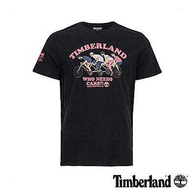 Timberland 男款黑色圖案短袖T恤|A1YC4