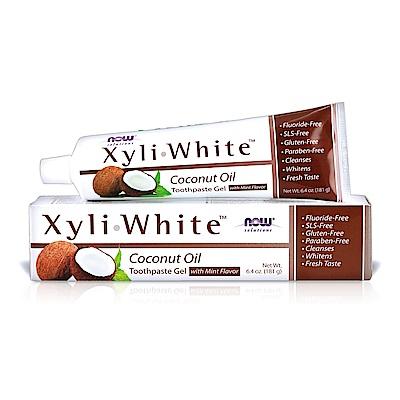 NOW XyliWhite™ 薄荷椰子油牙膏(6.4OZ/181g)效期2020/12/31