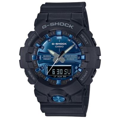 G-SHOCK 潮流霧面感設計風格運動雙顯錶-藍(GA-810MMB-1A2)/48.6m