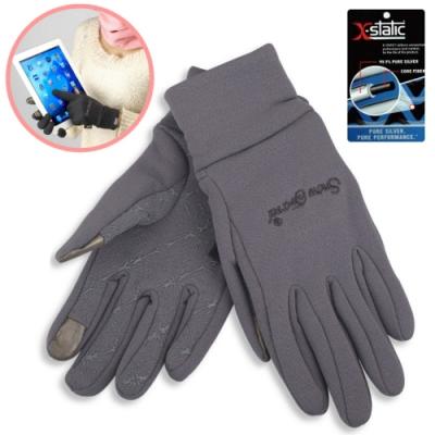 SNOW TRAVEL 美國X-STATIC銀纖維保暖觸控手套_灰