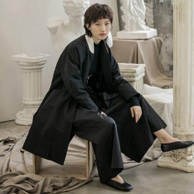 設計所在Style-簡約復古中性風中長版寬鬆風衣外套