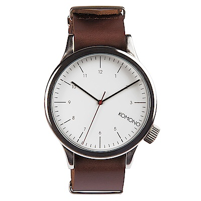 KOMONO Magnus 腕錶-布朗棕/46mm