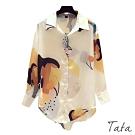 水彩圖騰外罩襯衫TATA-(M~XL)