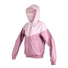 NIKE 女連帽風衣外套-連帽外套 防風 慢跑 路跑 粉紅