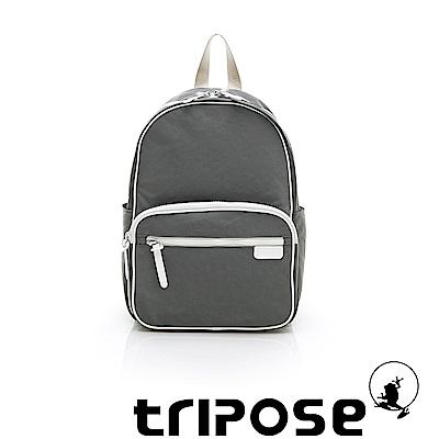 tripose PIPE系列滾邊後背包 灰