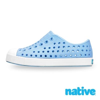 native 大童鞋 JEFFERSON 小奶油頭鞋-水洗藍x苔原灰