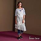 beartwo 鏤空蕾絲花不對稱下襬吊帶洋裝(二色)