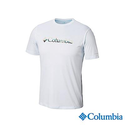 Columbia哥倫比亞男款-UPF30涼感快排短袖上衣-白色UAE64630WT