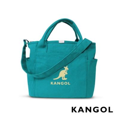 KANGOL 韓版玩色-帆布手提/斜背托特包-青藍 AKG1216-12
