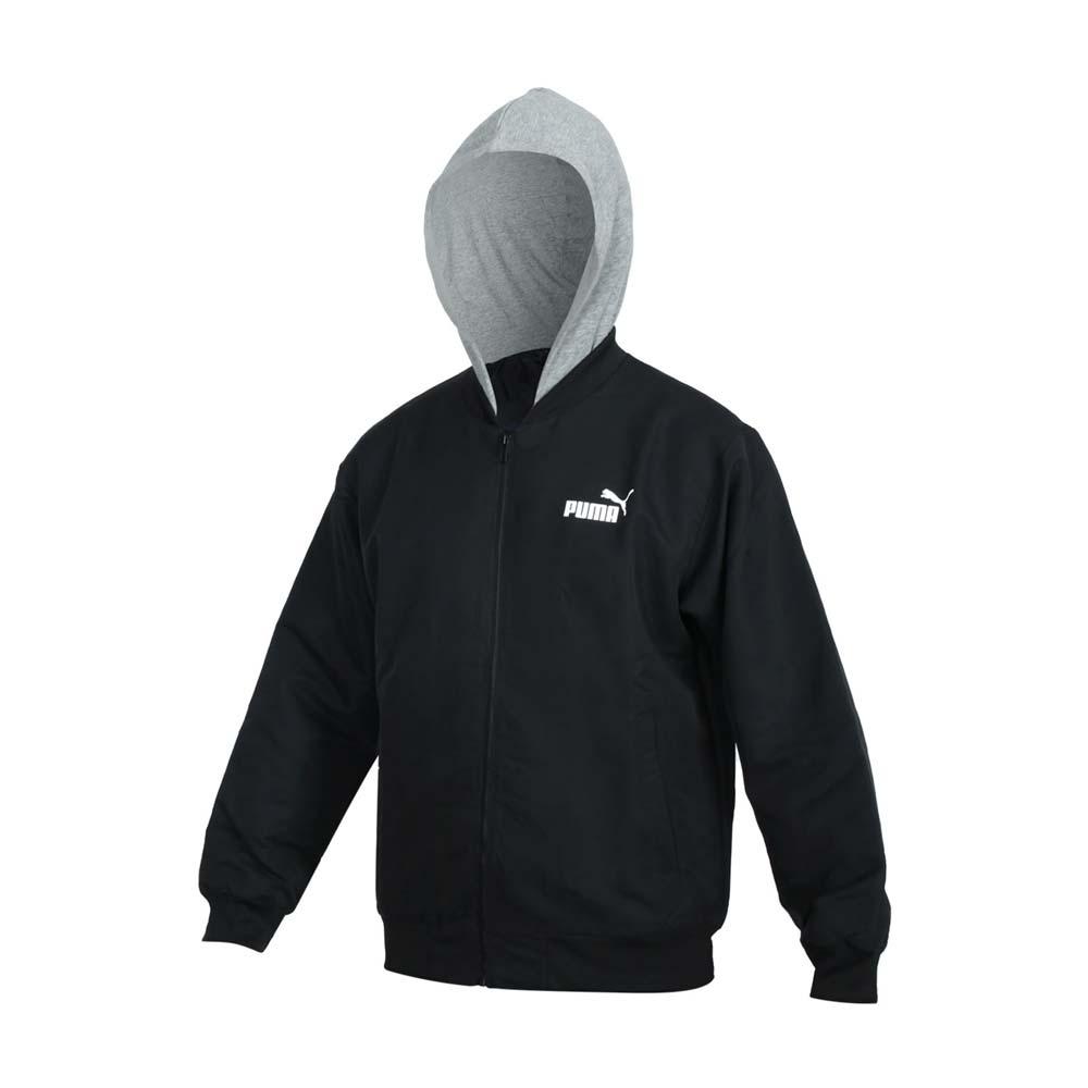 PUMA 男基本系列連帽外套-歐規 防風 休閒 上衣 58715301 黑灰白