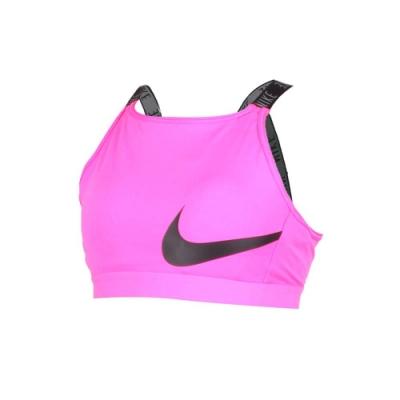 NIKE 女運動內衣-韻律 瑜珈 運內 慢跑 路跑 粉紅黑