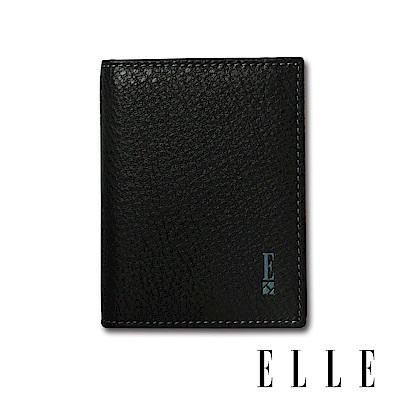 ELLE HOMME 經典款-輕巧型多層信用卡/證件夾- 紳士黑EL2070003