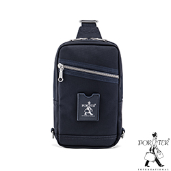 PORTER - 搶眼美學LUXY簡約時尚單肩包 - 藍(銀)