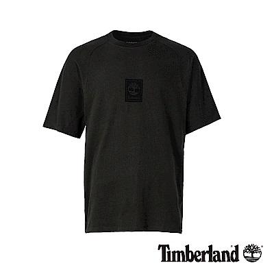 Timberland 男款泥炭色後背線形品牌標識純棉短袖T恤 A1OAG