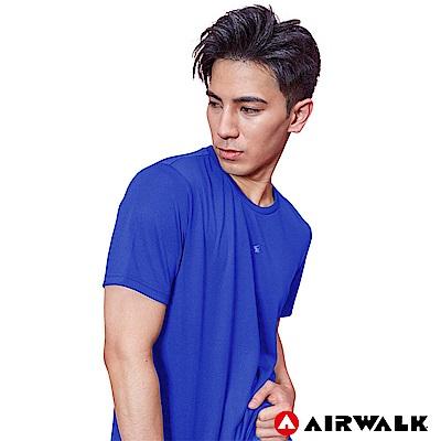 【AIRWALK】男款吸排短T-寶藍