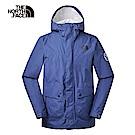 The North Face北面男款藍色防水透氣衝鋒衣 3V4NHDC
