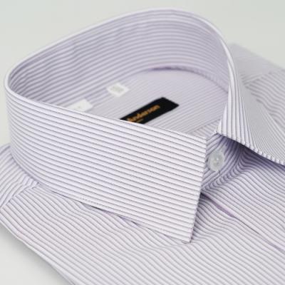 金‧安德森 紫白條紋吸排窄版短袖襯衫fast
