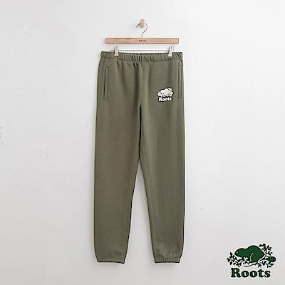 Roots-男裝- 原創棉質長褲-綠