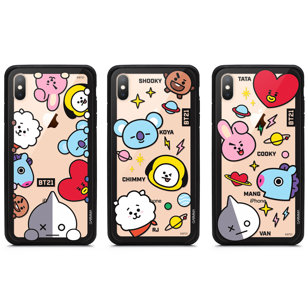 GARMMA 宇宙明星BT21 iPhone XR 玻璃殼