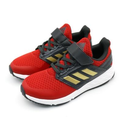 ADIDAS FortaFaito EL 中大童 跑步鞋 紅黑