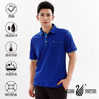 【遊遍天下】MIT男款吸濕排汗抗UV機能POLO衫GS10033寶藍