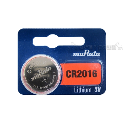 muRata村田(原SONY) 鈕扣型 鋰電池 CR2016 (5顆入) 3V