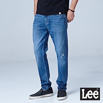 Lee 731中腰舒適小直筒牛仔褲-淺藍色