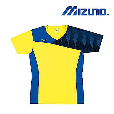 Mizuno 美津濃 男女 排球上衣 黃藍 V2TA8G1745