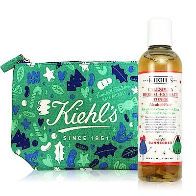 KIEHLS契爾氏 金盞花植物精華化妝水250ml 2018聖誕限定版+聖誕包包(綠)