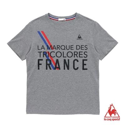 法國公雞牌短袖T恤 LLN2110595-男-麻灰