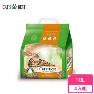 德國凱優Cat′s Best-舒適細粒木屑砂(橘標崩解型) 10L/4.3kg 四包組