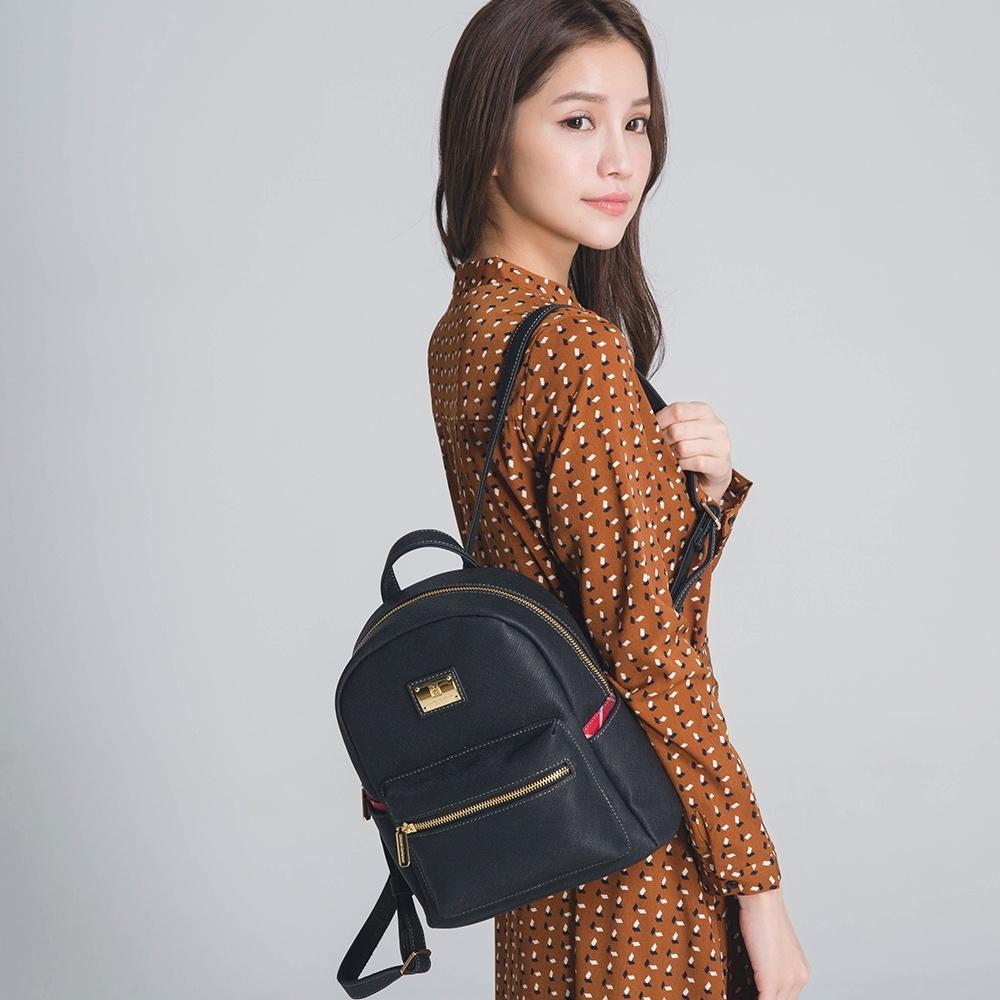【金安德森】薇若妮卡  簡約百搭後背包(小款)-黑色