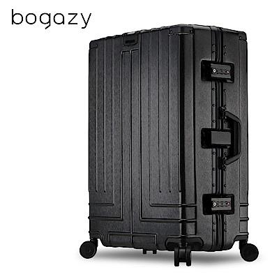 Bogazy 王爵天下 29吋PC拉絲紋鋁框行李箱(經典黑)