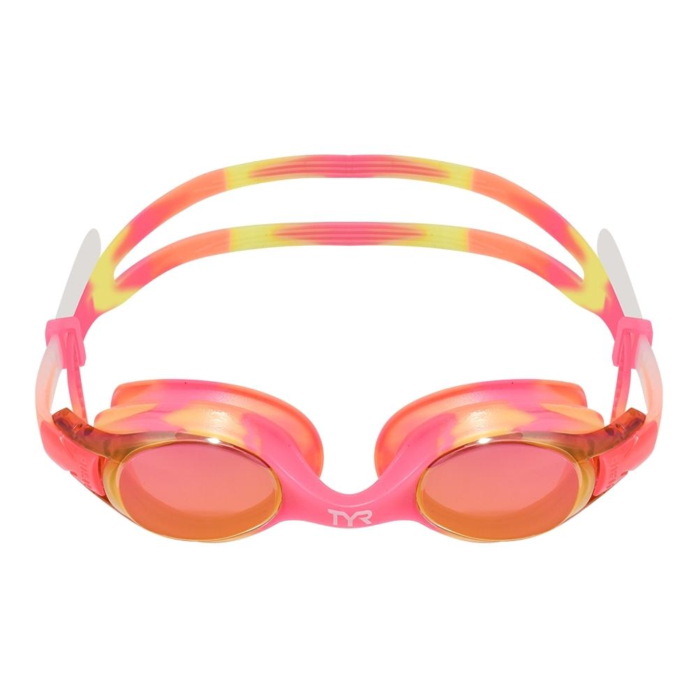 TYR 兒童訓練用泳鏡 Swimple Tie Dye Mirrored Kids Fit