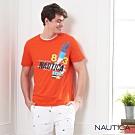Nautica 夏日繽紛衝浪短袖T恤-橘
