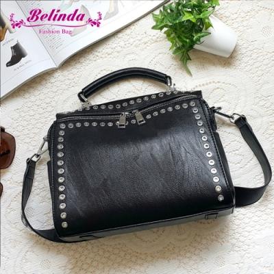 【Belinda】弗拉迪手提側背包(黑色)