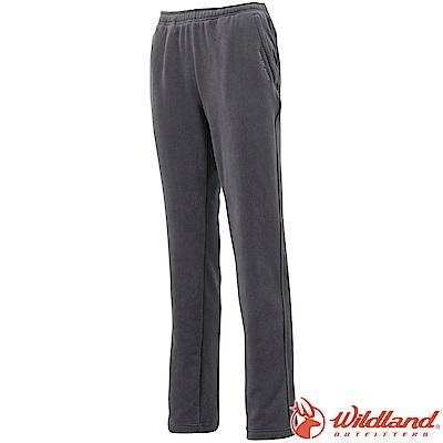 Wildland 荒野 W2531-95鐵灰色 女彈性奈米銀PILE長褲
