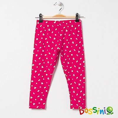 bossini女童-印花針織貼身褲02桃紅