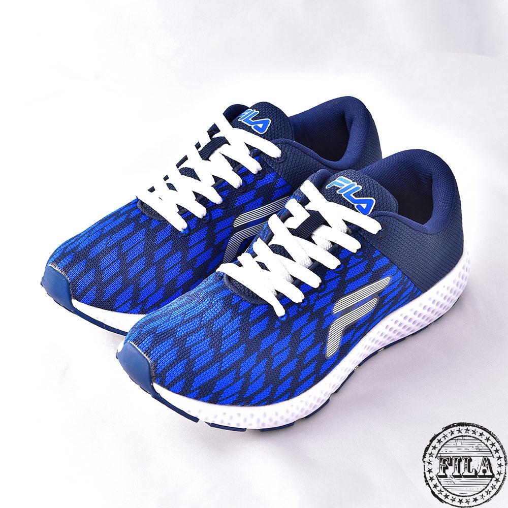 【FILA】男款透氣網布慢跑鞋1-J908Q-331 @ Y!購物