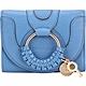 SEE BY CHLOE HANA 編織環山羊皮釦式短夾(月光藍) product thumbnail 1