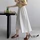 【白鵝buyer】簡約 休閒舒適棉質寬褲裙(白色) product thumbnail 1
