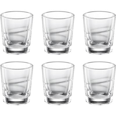 《TESCOMA》烈酒杯6入(雕紋15ml)