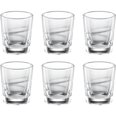 《TESCOMA》烈酒杯6入(雕紋50ml)