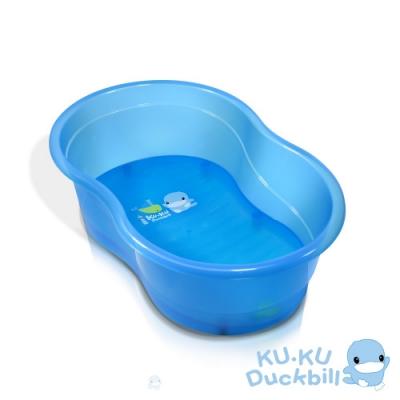 KUKU酷咕鴨 晶透浴盆(藍/桃紅)