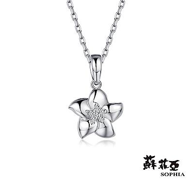 蘇菲亞SOPHIA - 櫻花9K鑽石項鍊