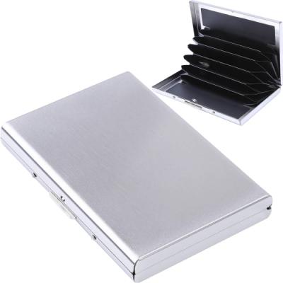 《Kinzd》不鏽鋼防盜卡片收納盒(銀)