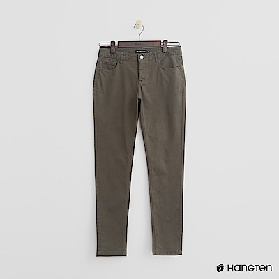 Hang Ten - 女裝 - 休閒修身長褲-綠