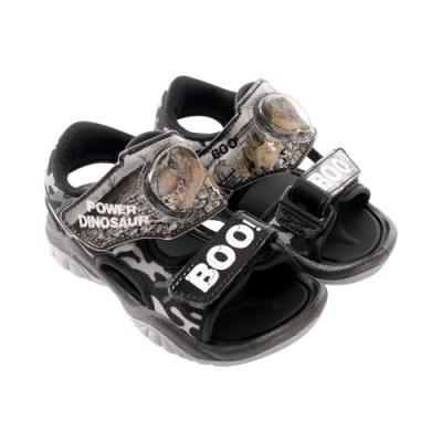 魔法Baby男童鞋 台灣製恐龍圖騰閃燈涼鞋 電燈鞋sk1010