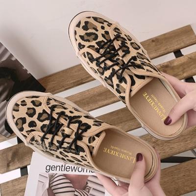 KEITH-WILL時尚鞋館 追加款獨具品味時尚穆勒鞋 豹紋