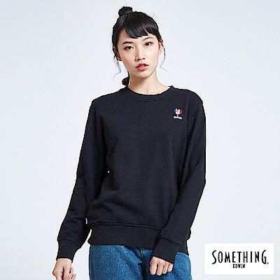 買一送一 BONBON法鬥哥 小刺繡厚長袖T恤-女-黑色